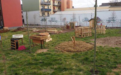 Urban Gardening an der Melcherstiege nimmt Form an